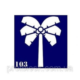 Трафарет 6х6 для биотату №103 Пальма