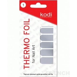 Термо фольга для дизайна Kodi (серебро)