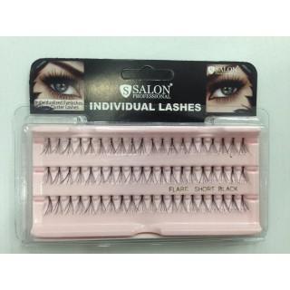 Пучки Salon Individual lashes flare medium black (средние черные)