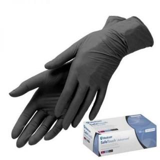 """Перчатки нитриловые XS """"SafeTouch Black"""" текстурованные без пудры нестерильные (100шт./уп)"""