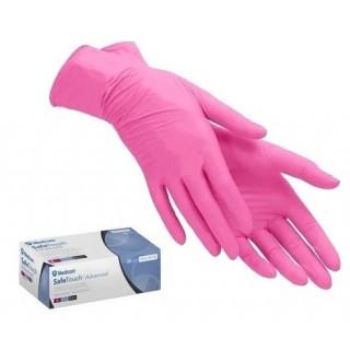 Перчатки нитриловые M розовые текстурованные без пудры нестерильные (100шт./уп)