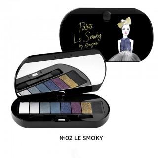BJ Palette le Smoky тени для век 8 цветов №02  4,5 г