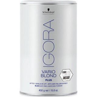 Акция !!! Беспылевой порошок для осветления IGORA Vario Blond Plus Голубой 450 г