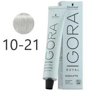 Краска для волос Schwarzkopf Igora Royal Highlift с технологией Fibre Bond 10-21 блон пепельный сандре 60 мл