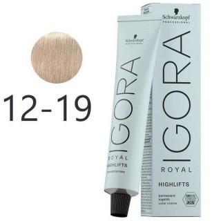 Крем-краска для волос Schwarzkopf Igora Royal Highlift 12-19 Специальный Блондин Фиолетовый Сандрэ 60 мл