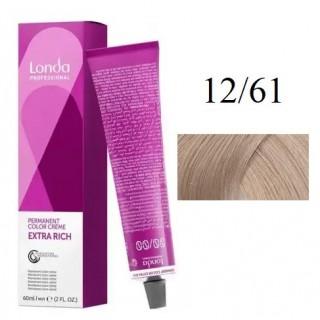 Акция !!! Стойкая крем-краска для волос Londa Professional 12/61 Специальный блонд фиолетово-пепельный 60 мл