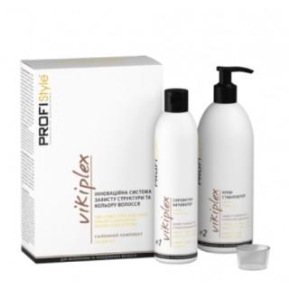 Салонний комплект VIKIPLEX (захист структури та кольору волосся) 250+500 мл