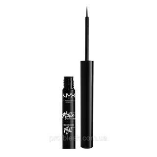 NYX Пoдвoдкa жидкaя мaтoвaя для глaз Mat Liquid Liner (Black) 2 мл