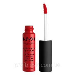 NYX Помада матовая Soft matte lip cream №01 (Amsterdam) 8 мл ++