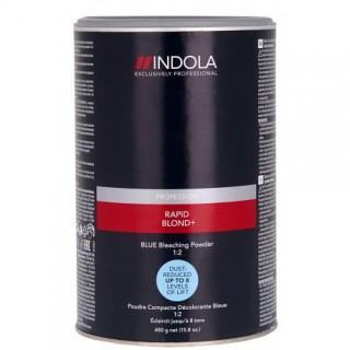 Акция !!! Indola Rapid Blond Беспылевой осветляющий порошок Голубой 500гр до 8 уровней