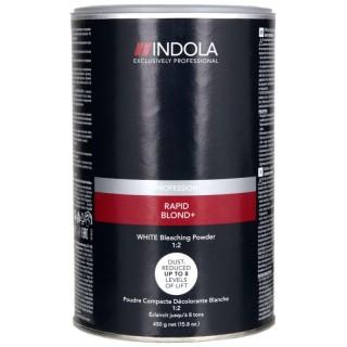 Акция !!! Indola Rapid Blond+ Беспылевой осветляющий порошок Белый 500 гр до 8 уровней