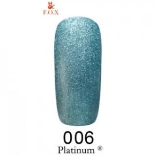 Platinum 006 F.O.X gel-polish gold 6 мл