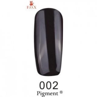 002 F.O.X gel-polish gold Pigment 6 мл (чёрный)