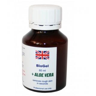 Derma Pharms UK BioGel + Aloe Vera. Биогель для педикюра, маникюра  60 мл (Ремувер)
