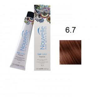Краска для волос Nouvelle Hair Color 6.7 орех 100 мл
